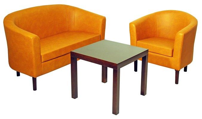 Sofa i fotel klubowy Inwest Meble Radomsko